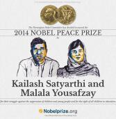 Kailash Satyarthi and Malala Yousafzay win Nobel peace prize 2014