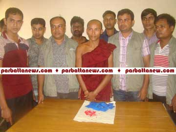 Buddhist monk held with 2745 pieces of Yabba In Bandarban