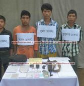 4 UPDF men held, arm recovered in Khagrachari